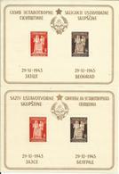 YU 1945-489-91 CONSTITUTION, YUGOSLAVIA, 2S/S, MNH - Blocks & Kleinbögen
