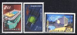 TAIWAN - N°388/A/B **  (1961) Réacteur Atomique - 1945-... République De Chine