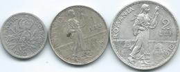 Romania - Carol I - 1910 - 50 Bani, 1 & 2 Lei (KMs 41-43) - Romania