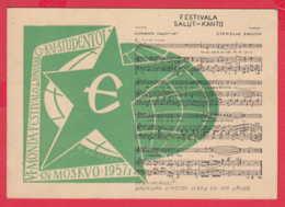 240398 / 6th World Festival Of Youth And Students MOSCOW 1957 , ESPERANTO , MUSIC , Kraków , Poland Pologne - Esperanto