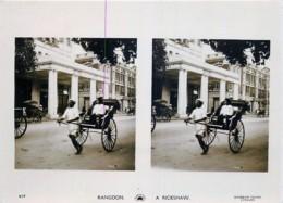 Myanmar - Birmanie - Picturesque Views Of Rangoon - Rangoon - A Rickshaw - Myanmar (Burma)