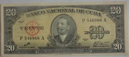 Billet De Cuba 20 Pesos 1960 Neuf/UNC Signé Par Le Che - Cuba