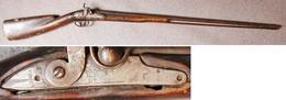 FUSIL A SILEX TRANSFORMÉ A PISTON 18° Siècle, Anglais.Officier. - Decorative Weapons