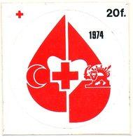 Rode Kruis 1974 Croix Rouge Red Cross Rote Kreuz Sticker Autocollant - Vignettes Autocollantes