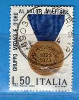 Italia °- 1973 - VALOR MILITARE.  Unif. 1240.  Vedi Descrizione. - 1971-80: Gebraucht