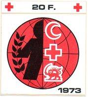 Rode Kruis 1973 Croix Rouge Red Cross Rote Kreuz Sticker Autocollant - Vignettes Autocollantes