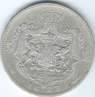 Romania - Carol I - 1883 - 5 Lei - KM17.1 - Romania