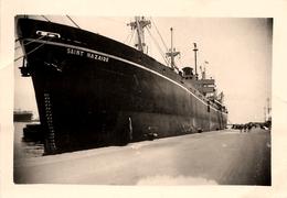 """Bateau """" SAINT NAZAIRE """" - Boat Ship - Commerce , Paquebot ? - Photo Ancienne - Bateaux"""