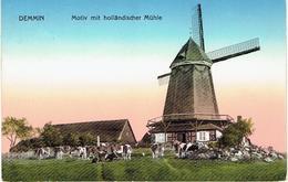 PLZ 17109 - DEMMIN - Motiv Mit Hollandischer Mühle - Molen - Feldpost Königlisches Garnisonslazaret Demmin 1915 - Demmin