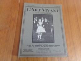 """Revue """" L'art Vivant """" N° 114 Du 15 Septembre 1929 """" Serge De Diaghilew Et Les Ballets Russes """" - Libri, Riviste, Fumetti"""