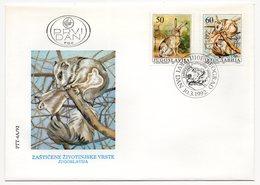 YUGOSLAVIA, FDC 10.03.1992, COMMEMORATIVE ISSUE: PROTECTED ANIMAL SPECIES - 1992-2003 Federal Republic Of Yugoslavia