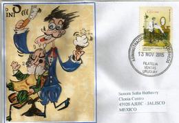 URUGUAY. El Peluquero (le Coiffeur), Belle Lettre D'Uruguay Adressée Au Mexique. Timbre Haute Faciale - Jobs