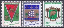 Elfenbeinküste Ivory Coast Cote D'Ivoire 1969 Wappen Coat Of Arms Abidjan Bouaké Elefant Elephants Schiffe, Mi. 348-0 ** - Côte D'Ivoire (1960-...)