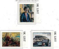 PIA  -  FAROER  -  1985  :  Arte Nelle Faroer  -  (Yv 112-14) - Färöer Inseln