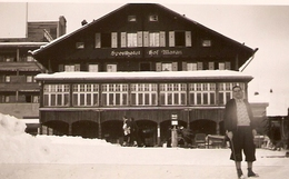 PHOTO 1935 - SUISSE AROSA HOTEL CHALET SPORTHOTEL HOF MARAN - NEIGE SKI SNOW - Orte