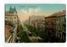 289129 POLAND Warszawa Warsaw Marzalkowska Street Vintage Postcard - Poland