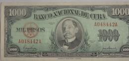 Rare Billet De Cuba 1000 Pesos 1950 Pick 84 Neuf/UNC - Cuba