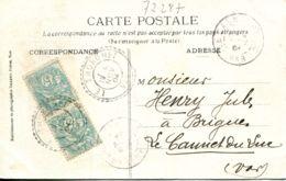 N°72287 -cachet Double Cercle Thoronet 1904 - Marcophilie (Lettres)