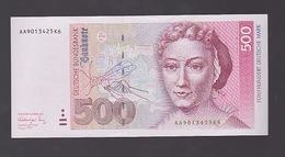 Billet De 500 Mark Du  1- 8- 1991  Neuf - [ 7] 1949-… : RFA - Rép. Féd. D'Allemagne