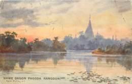Myanmar - Birmanie - Shwe Dagon Pagoda , Rangoon -  R. Tuck N° 7880 - Myanmar (Burma)