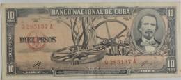 Billet De Cuba 10 Pesos 1960 Pick 88c Neuf/UNC Signé Par Le Che - Cuba