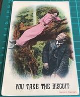 You Take The Biscuit ~ World War Era Bamford Postcard - Couples