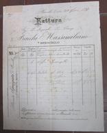 FATTURA BACCHI MASSIMILIANO VENDITA SPONGATA BRESCELLO REGGIO EMILIA ANNO 1897 - Italie