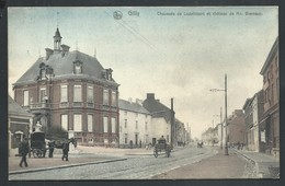 +++ CPA - Gilly - Chaussée De Lodelinsart Et Château De Mr Biernaux - Nels Couleur 1908 - Série 106 N° 34  // - Charleroi