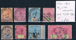TASMANIA • 1892-1907 • Selection Of Q. Vic. Tablet • Postally Used (9) - Used Stamps