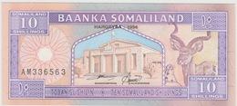 10 SHILLINGS DU SOMALILAND 1996 - Somalië