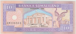 10 SHILLINGS DU SOMALILAND 1996 - Somalie