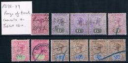 TASMANIA • 1892-99 • Selection Of Q. Vic. Tablet • Fiscally Used (11) - 1853-1912 Tasmania