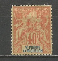 SAN PEDRO Y MIQUELON YVERT NUM. 68 * NUEVO CON FIJASELLOS - St.Pierre & Miquelon