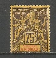 SAN PEDRO Y MIQUELON YVERT NUM. 70 * NUEVO CON FIJASELLOS - St.Pierre Et Miquelon