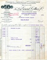 LYON.FABRIQUE D'ARTICLES DE PREMIERE COMMUNION.LES FRERES DE GIRARD,COTTIER & Cie 78 RUE DE L'HOTEL DE VILLE. - Textile & Vestimentaire