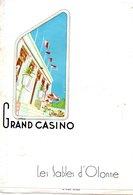 17 Charente Maritime...les Sable D'olonne....le Grand Casino....programme....1962 - Programmes