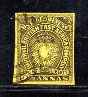 APR605 - AFRICA ORIENTALE BRITANNICA 1890,  Yvert N. 7 Usato (2380A) - Afrique Orientale Britannique