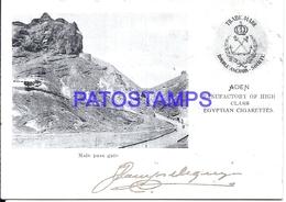 110906 AFRICA ADEN PASS MAIN GATE PUBLICITY EGYPTIAN CIGARETTES POSTAL POSTCARD - Cartes Postales