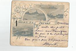 Jersey Petite Carte Ecrite En 1896 - Jersey