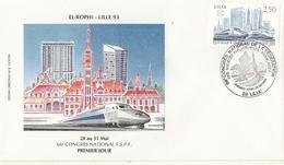 Lille- Europhi Lille 93- 66è Congres National - Expositions Philatéliques