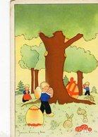 NIÑOS CON HUEVO DE PASCUAS. ENFANTS AVEC DES OEUFS DE PÂTISSERIE. CARTE POSTALE NON CIRCULE POSTAL CPA - LILHU - Dibujos De Niños