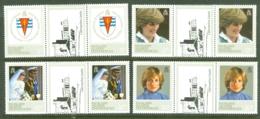 Falkland Islands Dep: 1982   21st Birthday Of Princess Of Wales      MH Gutter Pairs - Falkland Islands