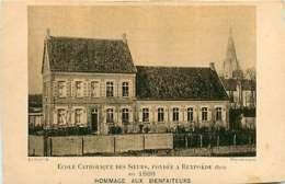 220419A - Photo Luzzatto DUNKERQUE - 59 école Catholique Des Soeurs Fondée à REXPOEDE En 1888 Hommage Aux Bienfaiteurs - Other Municipalities