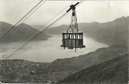 """Locarno (Ticino, Svizzera) Funivia Orselina-Cardada, Targhetta """"1906-1956, Cinquant. Servizio Cheques E Girate Postali"""" - TI Tessin"""