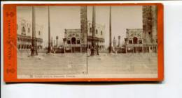 294399 ITALY VENEZIA Veduta Verso La Piazzetta Vintage Naya STEREO PHOTO - Stereoscopic