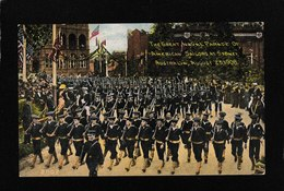 Sydney,Australia-Great Naval Parade Of American Soldiers, Aug 23,1908 - Antique Postcard - Australia