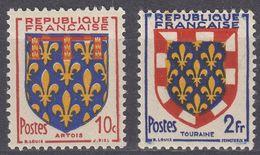 FRANCE - 1951 - Lotto Di 2 Valori Nuovi MNH: Yvert 899 E 902. - 1941-66 Stemmi E Stendardi