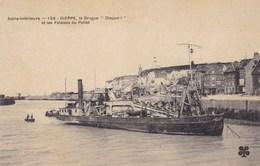 """Seine-Maritime - Dieppe -, La Drague """"Dieppe"""" Et Les Falaises Du Pollet - Dieppe"""