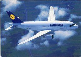 LUFTHANSA AIRBUS A319-100. AVION AERONEF AIRPLANE. POSTAL POSTALE CPA NON CIRCULE - LILHU - 1946-....: Era Moderna