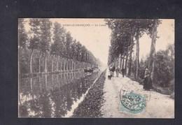 Vente Immediate Vitry Le Francois (51) Le Canal ( Animée Chemin De Halage Peniche Chevaux Ed. V. B.) - Vitry-le-François